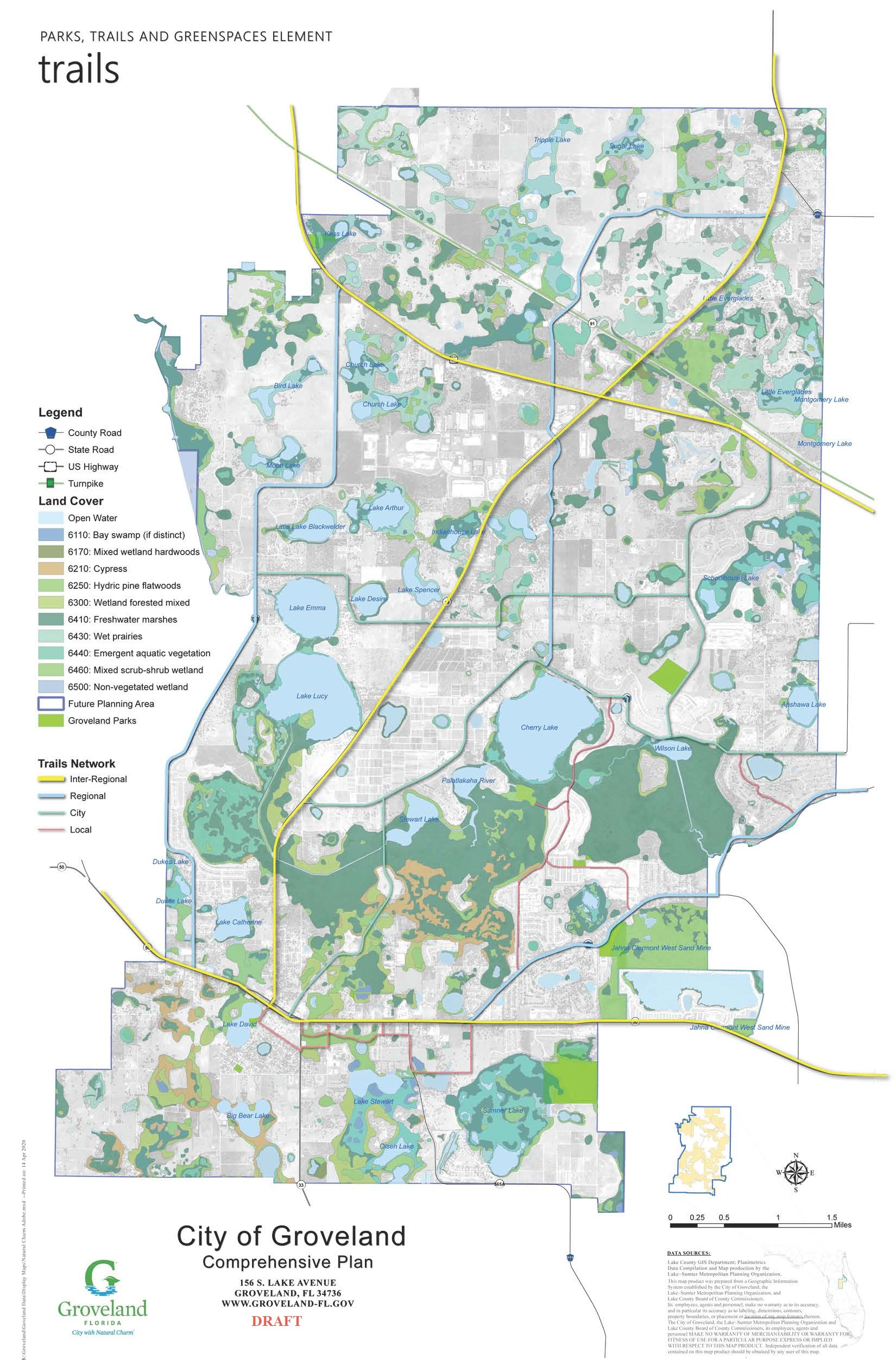 Early Draft Parks and Trails Plan
