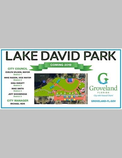 Lake David Park 4x8 sign Opens in new window